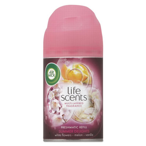 Air Wick Freshmatic Life Scents Ultra Refill  Summer Delights  5 89 oz Aerosol  6 Carton (RAC91101)