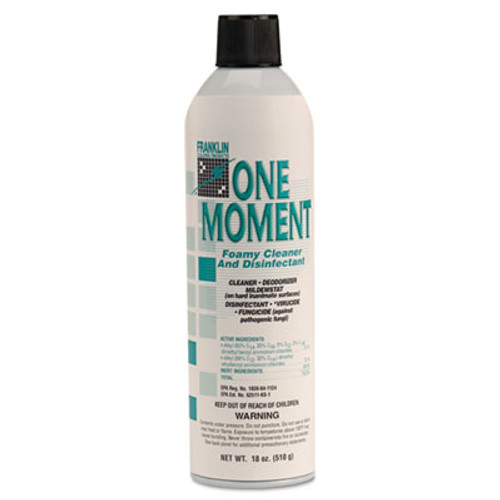 Franklin Cleaning Technology One Moment Foamy Cleaner and Disinfectant  Citrus  18oz  Aerosol Can  12 CT (FKLF803215)