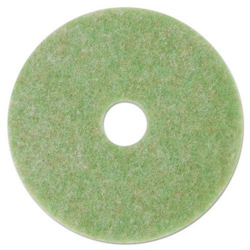 3M Low-Speed TopLine Autoscrubber Floor Pads 5000  13  Diameter  Green Amber  5 CT (MMM18045)