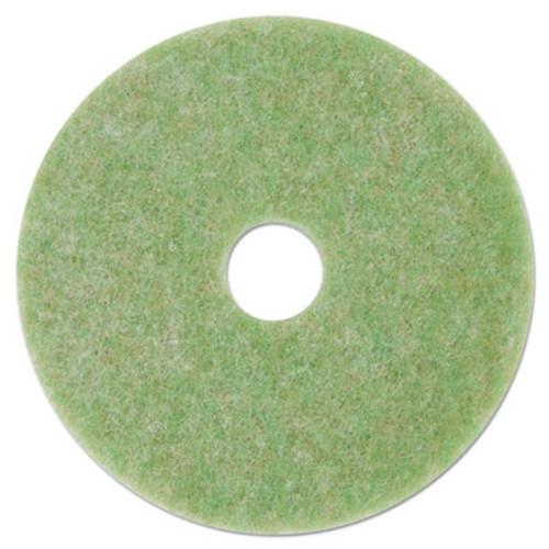 3M Low-Speed TopLine Autoscrubber Floor Pads 5000  13  Diameter  Green Amber  5 CT (MMM18045)