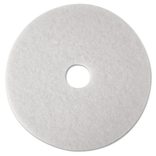 3M Low-Speed Super Polishing Floor Pads 4100, 16-Inch, White, 5/Carton (MMM08480)