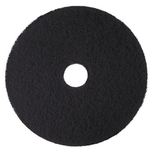 3M Low-Speed High Productivity Floor Pads 7300  21  Diameter  Black  5 Carton (MMM08279)
