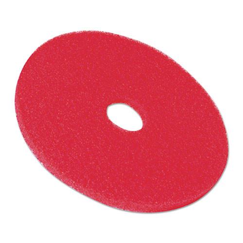 3M Low-Speed Buffer Floor Pads 5100  16  Diameter  Red  5 Carton (MMM08391)
