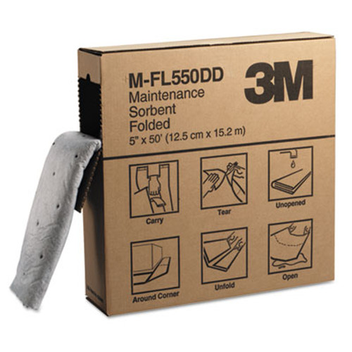 3M High-Capacity Maintenance Folded Sorbent  10 5gal Capacity  3 Carton (MMM07172)