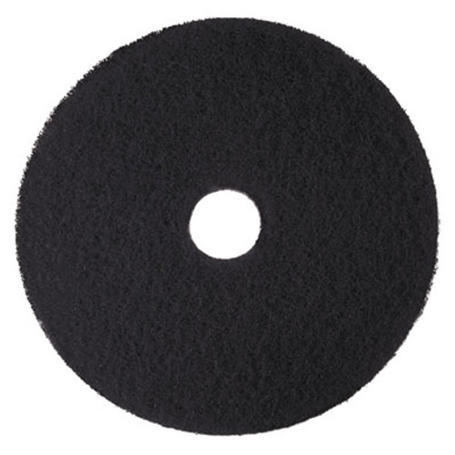 3M Low-Speed High Productivity Floor Pads 7300, 14-Inch, Black, 5/Carton (MMM08272)