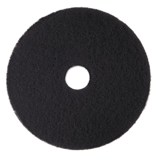 3M Low-Speed High Productivity Floor Pads 7300, 15-Inch, Black, 5/Carton (MMM08273)