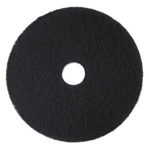 3M Low-Speed High Productivity Floor Pads 7300  15  Diameter  Black  5 Carton (MMM08273)