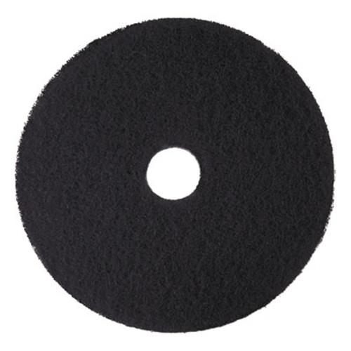 3M Low-Speed High Productivity Floor Pads 7300, 18-Inch, Black, 5/Carton (MMM08276)