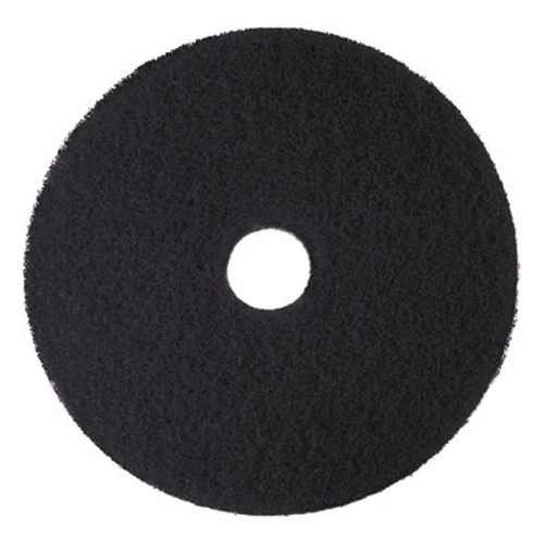 3M Low-Speed High Productivity Floor Pads 7300  18  Diameter  Black  5 Carton (MMM08276)