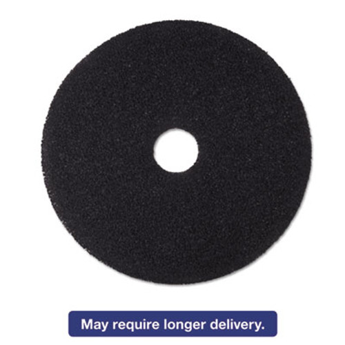 3M Low-Speed Stripper Floor Pad 7200  16  Diameter  Black  5 Carton (MMM08378)