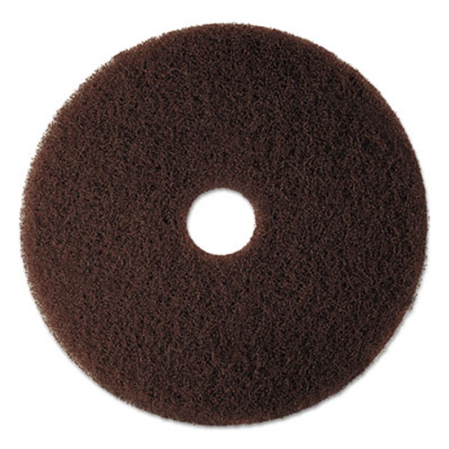 "3M Low-Speed High Productivity Floor Pad 7100, 17"", Brown, 5/Carton (MMM08445)"