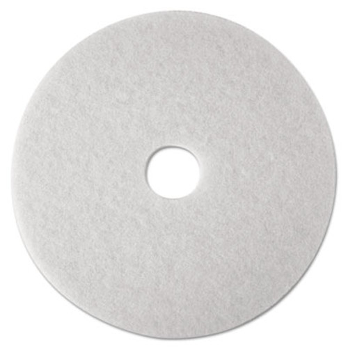 3M Low-Speed Super Polishing Floor Pads 4100, 14-Inch, White, 5/Carton (MMM08478)
