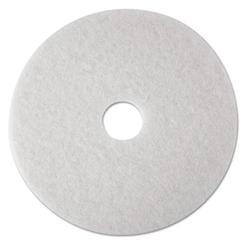 3M Low-Speed Super Polishing Floor Pads 4100  24  Diameter  White  5 Carton (MMM08488)