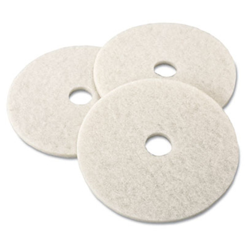 3M Ultra High-Speed Natural Blend Floor Burnishing Pads 3300, 19in, White, 5/CT (MMM18209)