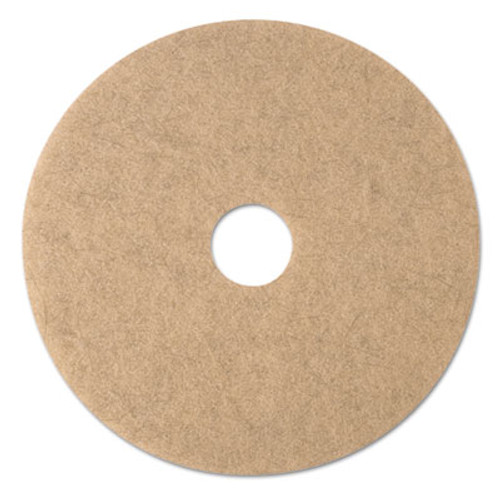 3M Ultra High-Speed Natural Blend Floor Burnishing Pads 3500  20  Dia   Tan  5 CT (MMM19008)