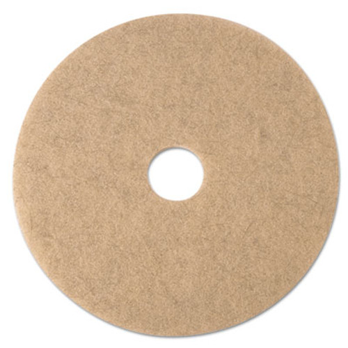 3M Ultra High-Speed Natural Blend Floor Burnishing Pads 3500, 24in, Tan, 5/CT (MMM19012)
