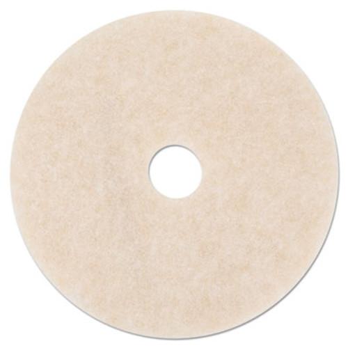 3M Ultra High-Speed TopLine Floor Burnishing Pads 3200, 27-Inch, White/Amber, 5/CT (MMM20259)