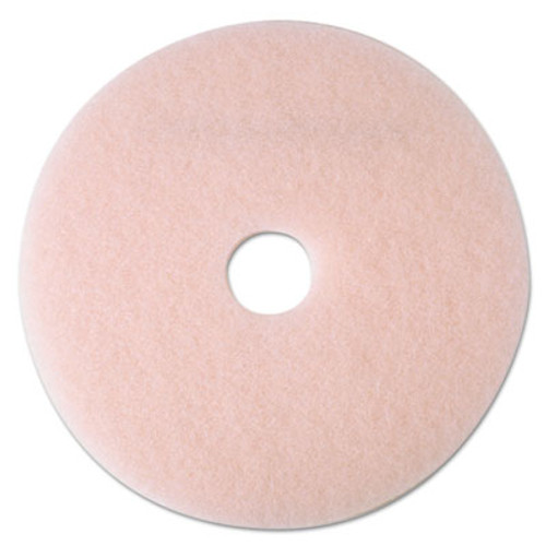 "3M Ultra High-Speed Eraser Floor Burnishing Pad 3600, 24"", Pink, 5/Carton (MMM25861)"