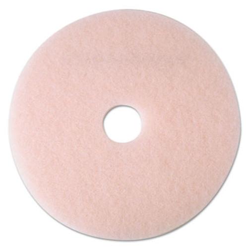 3M Ultra High-Speed Eraser Floor Burnishing Pad 3600  24  Diameter  Pink  5 Carton (MMM25861)