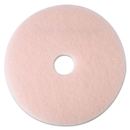 "3M Ultra High-Speed Eraser Floor Burnishing Pad 3600, 27 1/4"", Pink, 5/Carton (MMM25866)"
