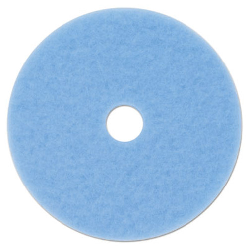 "3M Sky Blue Hi-Performance Burnish Pad 3050, 27"" dia, 5/Carton (MMM59824)"