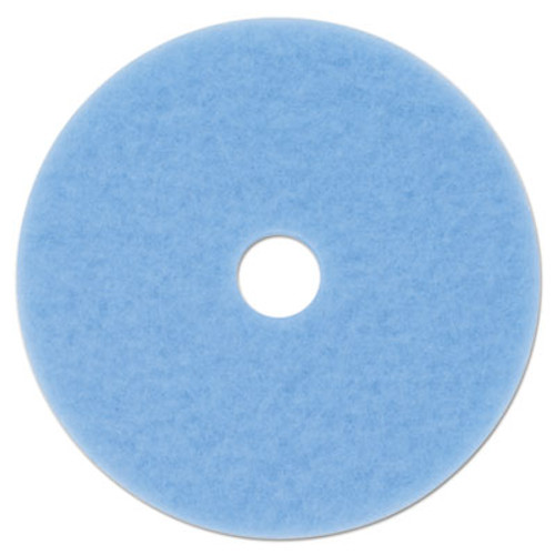 "3M Sky Blue Hi-Performance Burnish Pad 3050, 20"" dia, 5/Carton (MMM59825)"