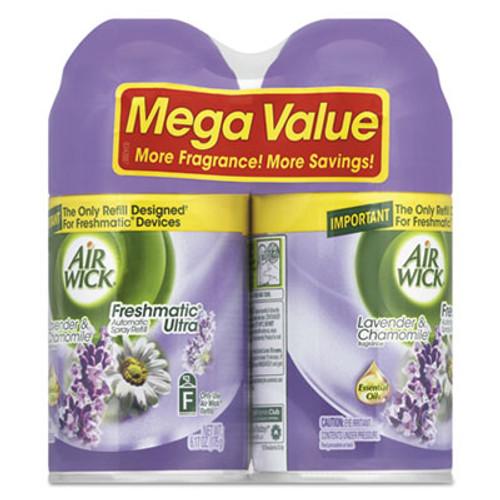 Air Wick Freshmatic Ultra Spray Refill  Lavender Chamomile  Aerosol  5 89oz  2 Pack  3 Packs Carton (RAC85595)