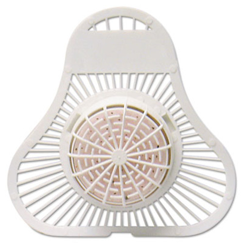 Fresh Products ParaZyme Urinal Screen w Block  30 Days  White  Springtime Fragrance  Dozen (FRSPP123USPBSF)