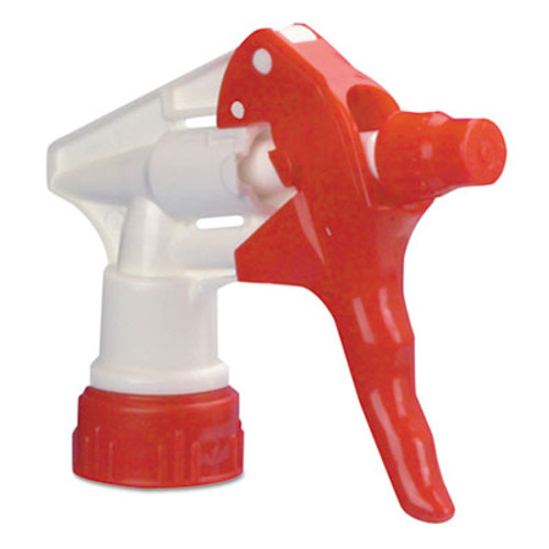 Boardwalk Trigger Sprayer 250 for 16-24 oz Bottles  Red White  8 Tube  24 Carton (BWK09227)