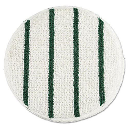 Rubbermaid Commercial Low Profile Scrub-Strip Carpet Bonnet  19  Diameter  White Green (RCPP269EA)