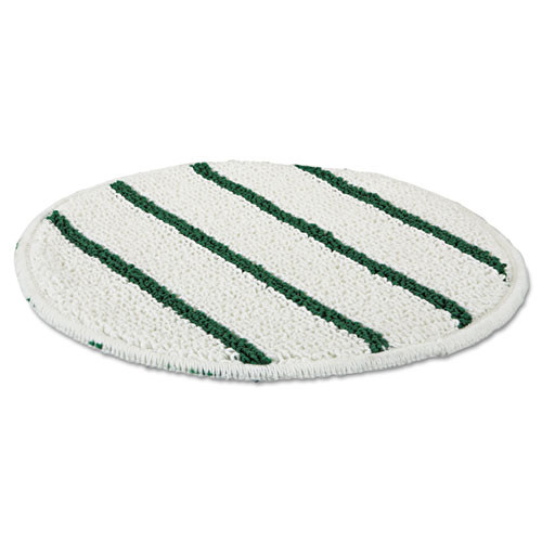 Rubbermaid Commercial Low Profile Scrub-Strip Carpet Bonnet  19  Diameter  White Green (RCPP269EA)