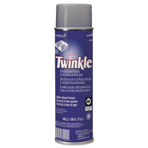Twinkle Stainless Steel Cleaner   Polish  17oz Aerosol  12 Carton (DVO991224)