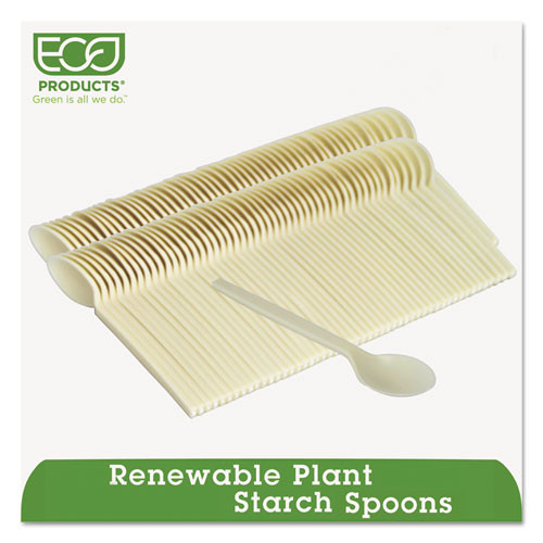 Eco-Products Plant Starch Spoon - 7   50 Pack (ECOEPS003)
