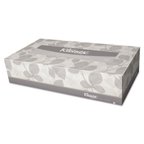 Kleenex White Facial Tissue, 2-Ply, Pop-Up Box, 125 Sheets, 48/Carton (KCC21606CT)
