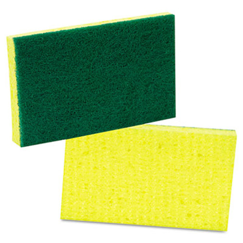 Scotch-Brite PROFESSIONAL Medium-Duty Scrubbing Sponge  3 6 x 6 1  Yellow Green  20 Carton (MMM74)