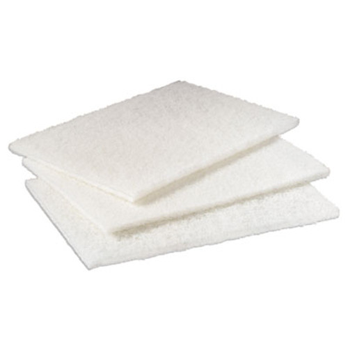 Scotch-Brite PROFESSIONAL Light Duty Cleansing Pad, 6 x 9, White, 20/Pack, 3 Packs/Carton (MMM98)