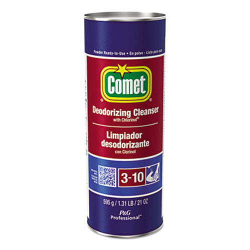 Comet Cleanser with Chlorinol  Powder  21 oz Canister  24 Carton (PGC32987CT)