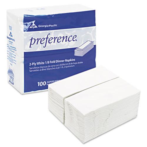 Georgia Pacific Professional 1 8 Fold Dinner Napkins  15 x 16  White  3000 Carton (GPC31436CT)