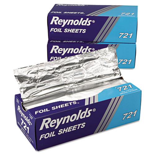 Reynolds Wrap Interfolded Aluminum Foil Sheets  12 x 10 3 4  Silver  500 Box  6 Boxes Carton (RFP721)
