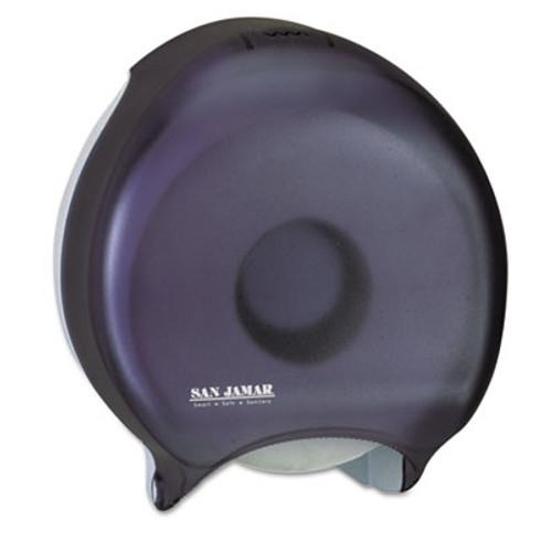 San Jamar Single-Roll Jumbo Bath Tissue Dispenser  10 1 4 x 5 5 8 x 12  Black Pearl (SJMR2000TBK)