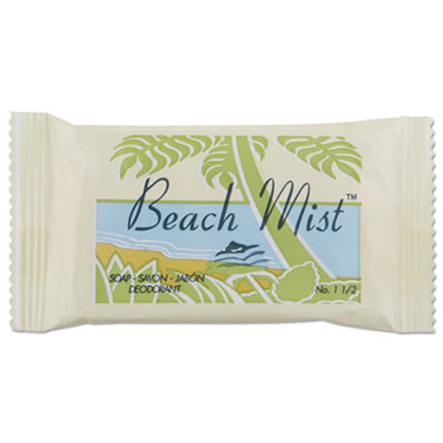 Beach Mist Face and Body Soap, Beach Mist Fragrance, 1.5 oz Bar, 500/Carton (BHMNO15A)