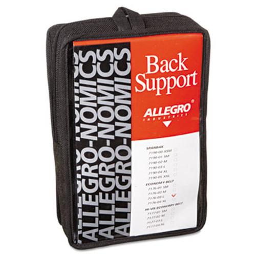 Allegro Economy Back Support Belt  Large  Black (ALG717603)