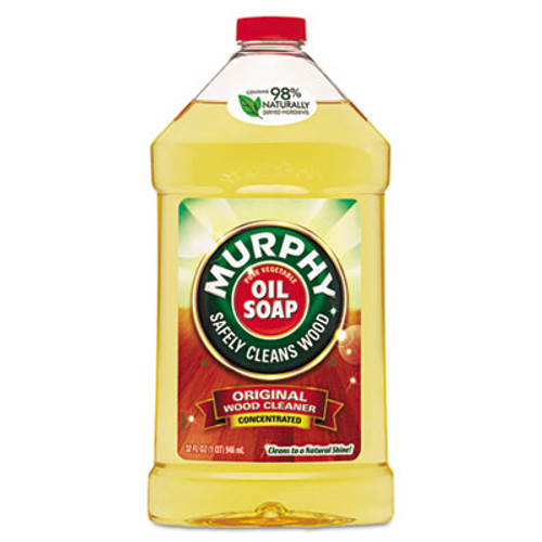 Murphy Oil Soap Original Wood Cleaner, Liquid, 32oz, 9/Carton (CPC01163CT)