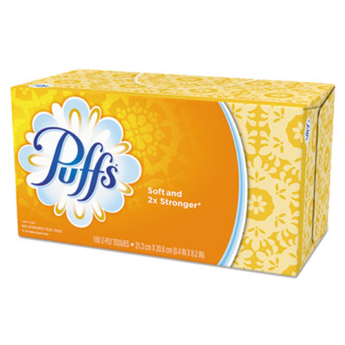 Puffs White Facial Tissue  2-Ply  180 Sheets Box (PGC87611CT)