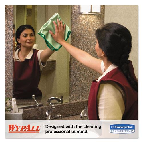 WypAll Microfiber Cloths  Reusable  15 3 4 x 15 3 4  Green  24 Carton (KCC83630CT)