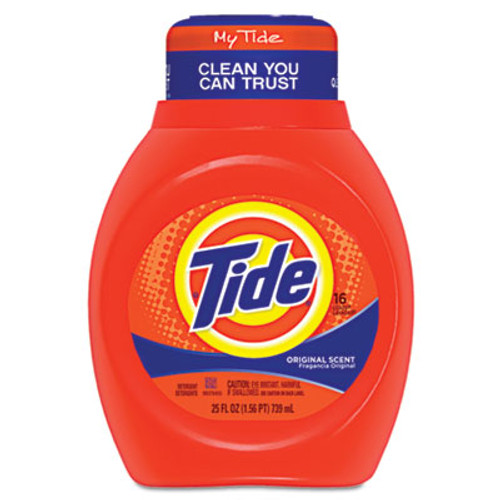 Tide Liquid  Laundry Detergent, Original, 25oz Bottle (PGC13875CT)