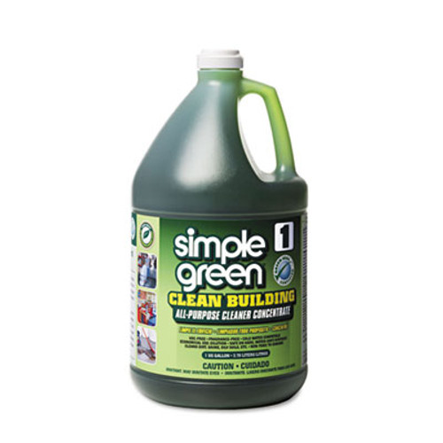 Simple Green Clean Building All-Purpose Cleaner Concentrate  1gal Bottle  2 per Carton (SMP11001CT)