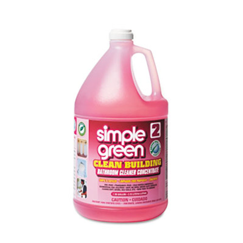 Simple Green Clean Building Bathroom Cleaner Concentrate  Unscented  1 gal Bottle  2 Carton (SMP11101CT)