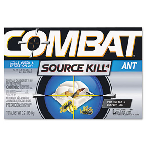 Combat Combat Ant Killing System  Child-Resistant  Kills Queen and Colony  6 Box  12 Boxes Carton (DIA45901CT)