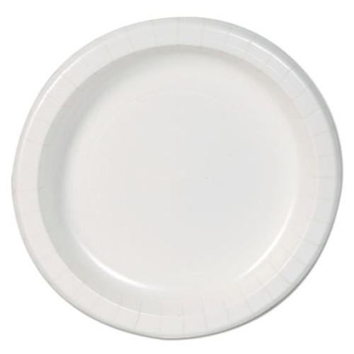 Dixie Basic Basic Paper Dinnerware  Plates  White  8 5  Diameter  125 Pack  4 Carton (DXEDBP09WCT)